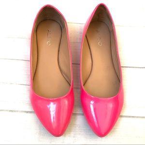 Aldo Hot Pink Flats
